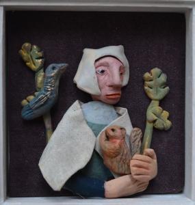 Lady with a squirrel Adrienne Craddock