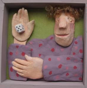 The dice Clay & plastic Shellie Byatt