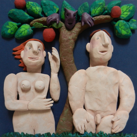 Adam and Eve under the tree