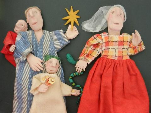 Persuasion Clay, fabric & paint Shellie Byatt